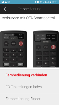 One For All App Setup Smartphone Abbildung